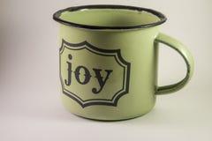 Um copo completo da alegria Fotografia de Stock Royalty Free