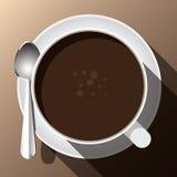 Um copo da fermentação quente do café Imagem de Stock
