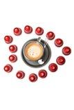 Um copo de cápsulas do café do café Imagem de Stock