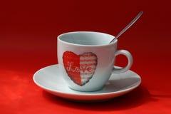 Um copo do amor Imagens de Stock Royalty Free