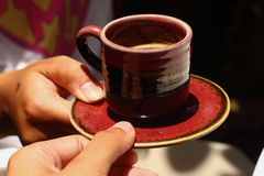 Um copo do café delicioso Fotos de Stock