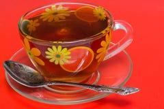 Um copo do chá foto de stock