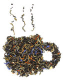 Um copo do chá feito das folhas de chá Imagem de Stock