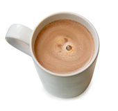 Um copo do chocolate quente imagens de stock