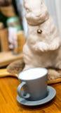 Um copo do leite fotografia de stock