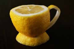 Um copo do limão Foto de Stock Royalty Free