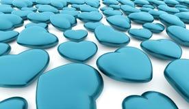 Um coração azul rendido ilustração stock