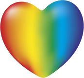 Um coração do arco-íris Fotografia de Stock