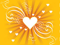 Um coração do vetor com redemoinhos ilustração do vetor