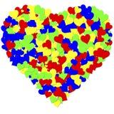 Um coração feito dos milhares de corações foto de stock