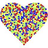 Um coração feito dos milhares de corações fotos de stock