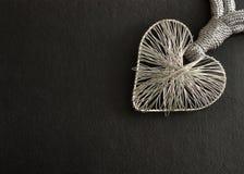 Um coração feito fora do silve Imagens de Stock Royalty Free