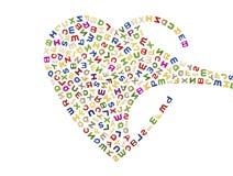 Um coração grande das letras Imagem de Stock