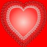 Um coração loving encheu-se com as flores Imagens de Stock