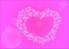 Um coração macio de bolas de flutuação ilustração stock