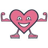 Um coração saudável com músculos ilustração do vetor