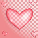 Um coração transparente Imagens de Stock Royalty Free
