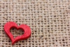 Um coração vermelho Fotos de Stock Royalty Free
