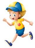 Um corredor do rapaz pequeno Foto de Stock Royalty Free