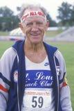 Um corredor nos Olympics sênior, Imagens de Stock Royalty Free