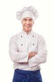 Um cozinheiro chefe masculino imagens de stock royalty free