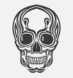 Um crânio estilizado do vetor Foto de Stock