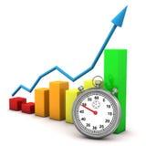 Cronômetro e gráfico Imagem de Stock Royalty Free