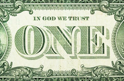 Um dólar Fotografia de Stock Royalty Free
