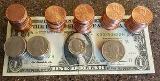 Um dólar Fotos de Stock Royalty Free