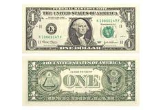 Um dólar Foto de Stock Royalty Free
