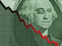 Um dólar Bill-Washington na inclinação Fotos de Stock Royalty Free