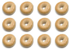Um dúzia Bagels Imagem de Stock