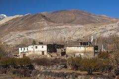Um das Dorf von Muktinath Lizenzfreie Stockbilder