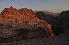 Um das PETRA Jordanien Lizenzfreie Stockfotografie