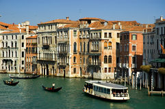 Um den großartigen Kanal Venedig Lizenzfreies Stockfoto