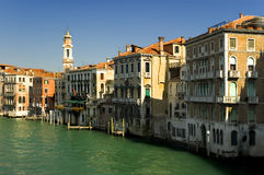 Um den großartigen Kanal Venedig lizenzfreies stockbild