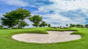 Um depósito da areia no campo de golfe fotografia de stock royalty free