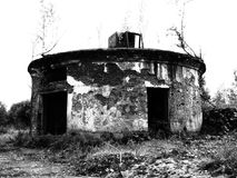 Um depósito velho abandonado Fotografia de Stock Royalty Free