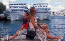Um descanso em um beira-mar Imagens de Stock Royalty Free