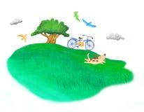 Um descanso no prado Imagem de Stock