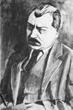 Um desenho de carvão vegetal Retrato de um homem ilustração royalty free
