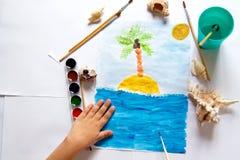 Um desenho do ` s da criança Imagens de Stock Royalty Free