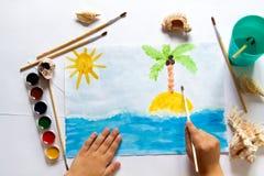 Um desenho do ` s da criança Fotos de Stock