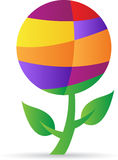 Planta abstrata do globo Imagens de Stock