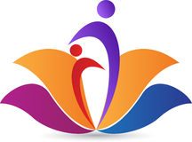 Logotipo de Lotus ilustração royalty free
