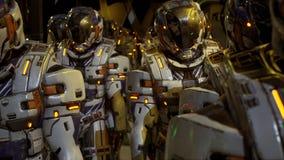 Um destacamento dos soldados do futuro que prepara-se para aterrar no planeta rendição 3d ilustração royalty free