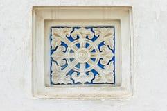 Detalhe da janela do monastério de Lavra em Kiev Imagens de Stock