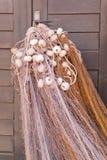 Um detalhe de uma rede de pesca Fotografia de Stock Royalty Free