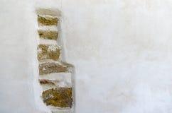 Um detalhe decorativo de pedras rústicas em uma parede Fotografia de Stock