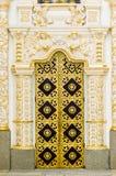 Detalhe da porta do monastério de Lavra em Kiev imagens de stock royalty free